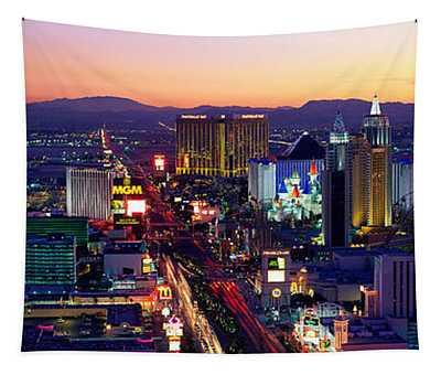 The Strip, Las Vegas, Nevada, Usa Tapestry