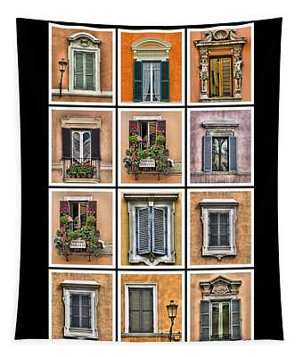 Windows Of Rome Tapestry