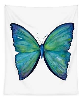 21 Blue Aega Butterfly Tapestry