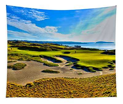 #15 At Chambers Bay Golf Course - Location Of The 2015 U.s. Open Tournament Tapestry