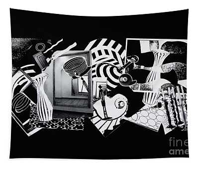 2d Elements In Black And White Tapestry