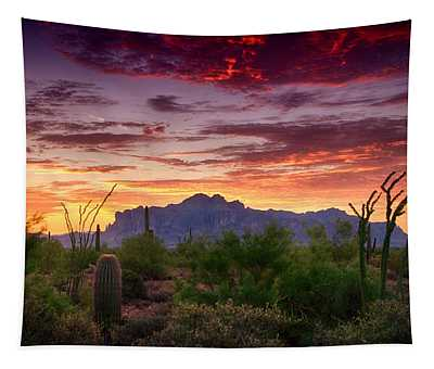 A Superstition Sunrise  Tapestry