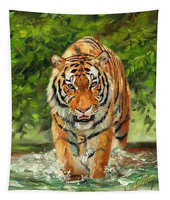 Amur Tiger Painting Tapestry
