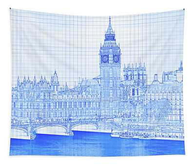 Arch Bridge Across A River, Westminster Tapestry