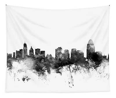 Cincinnati Ohio Skyline Tapestry