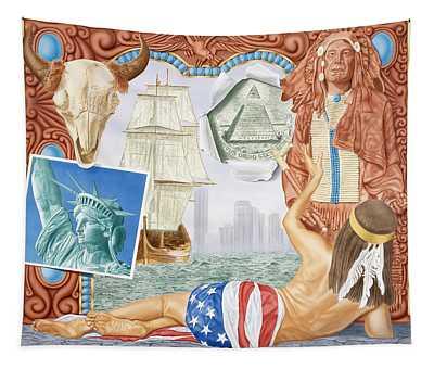 Destruction Of Native America Tapestry