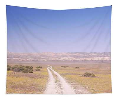 Dirt Road Passing Through A Landscape Tapestry