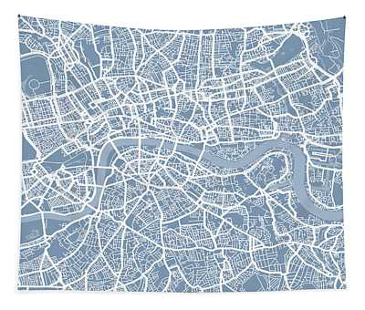 London England Street Map Tapestry