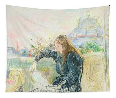 On The Balcony Tapestry