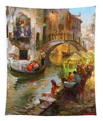 Romance In Venice  Tapestry