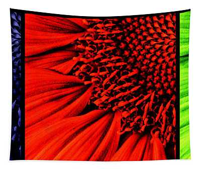 3 Tile Sunflower Colors Tapestry