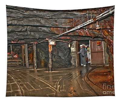 Tapestry featuring the photograph 300 Feet Beneath The Earth by Gary Keesler