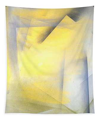 Raise The Bar - Grey And Yellow Abstract Art Painting Tapestry