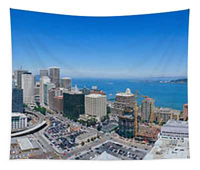360 Degree View Of A City, Rincon Hill Tapestry