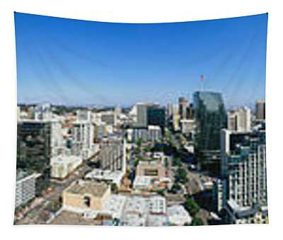 360 Degree View Of A City, San Diego Tapestry
