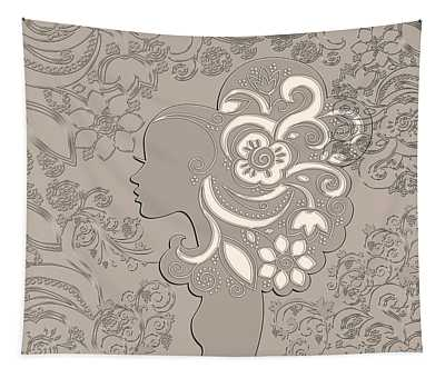 Woman With Flowing Hair Series 01 Tapestry