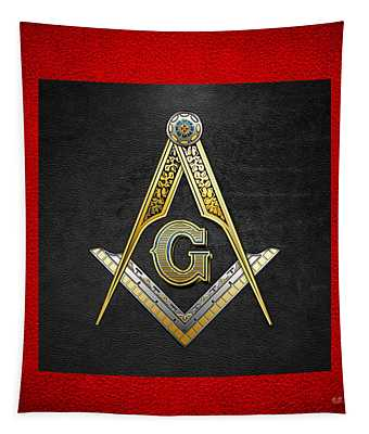 3rd Degree Mason - Master Mason Masonic Jewel  Tapestry