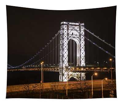 George Washington Bridge On President's Day Tapestry
