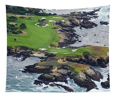 Golf Course On An Island, Pebble Beach Tapestry