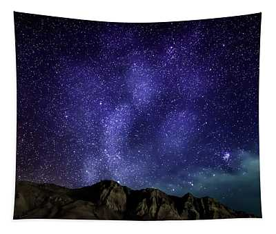 Milky Way Galaxy With Aurora Borealis Tapestry