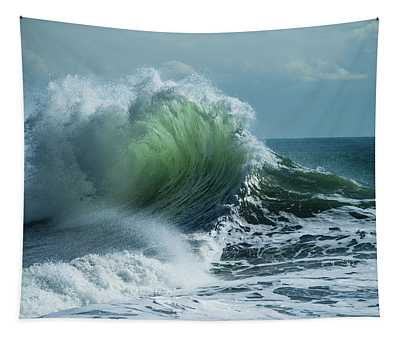 Waves In The Pacific Ocean At Dusk, San Tapestry