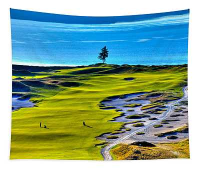 #5 At Chambers Bay Golf Course - Location Of The 2015 U.s. Open Tournament Tapestry