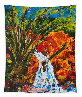 Burch Creek Waterfall Tapestry