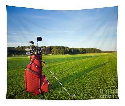 Golf Gear Tapestry