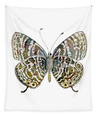 51 Lang's Short-tailed Blue Butterfly Tapestry