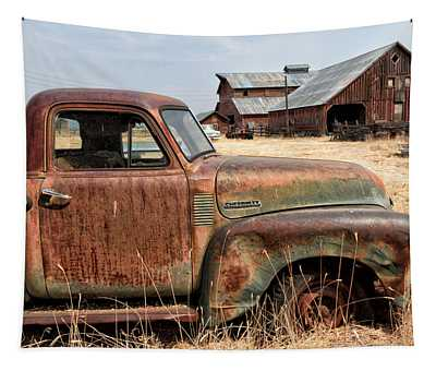 '54 Chevy Put Out To Pasture Tapestry