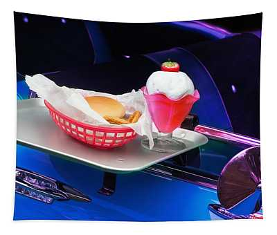 57 Chevy At A Drive-in Tapestry