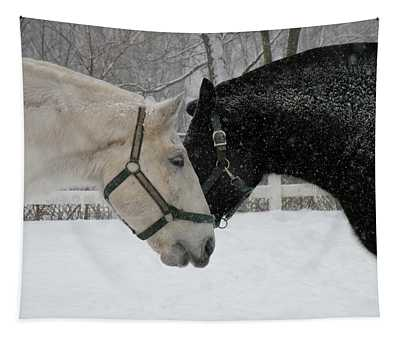 Nh Mounted Police Horses Tapestry