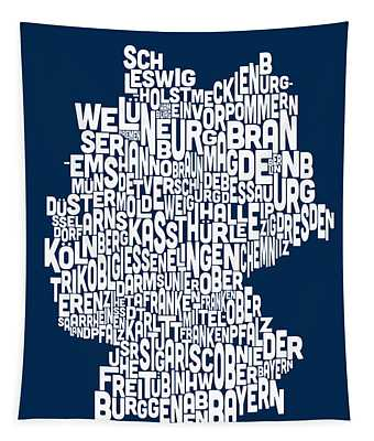 Text Map Of Germany Map Tapestry