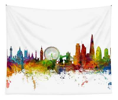 London England Skyline Tapestry