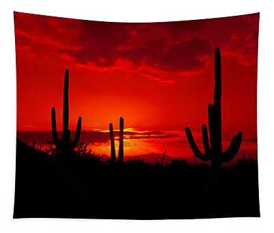 Saguaro Cactus Carnegiea Gigantea Tapestry