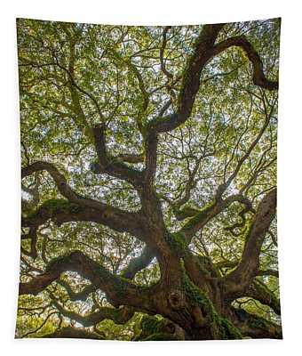 Island Angel Oak Tree Tapestry