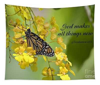 Butterfly Scripture Tapestry