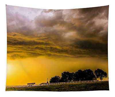 Late Afternoon Nebraska Thunderstorms Tapestry