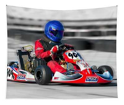 Racing Go Kart Tapestry