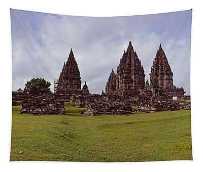 9th Century Hindu Temple Prambanan Tapestry