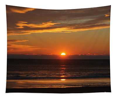 A Beach Life Sunrise Tapestry
