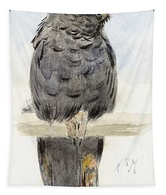 A Black Cockatoo Tapestry