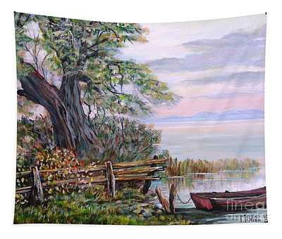 A Boat Waiting 3 Tapestry