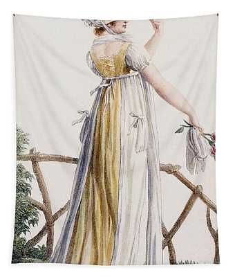 A Country Style Ladies Dress Tapestry