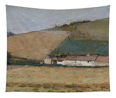 A Farm Among Hills Tapestry