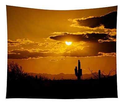 A Golden Southwest Sunset  Tapestry