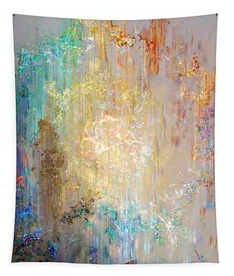 A Heart So Big - Abstract Art Tapestry
