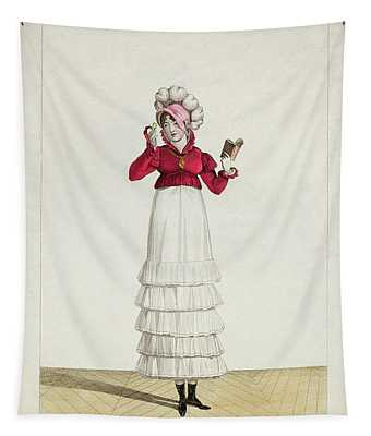 A Lady In A Levantine Hat Tapestry