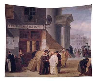 A Legide De Minerve Oil On Canvas Tapestry