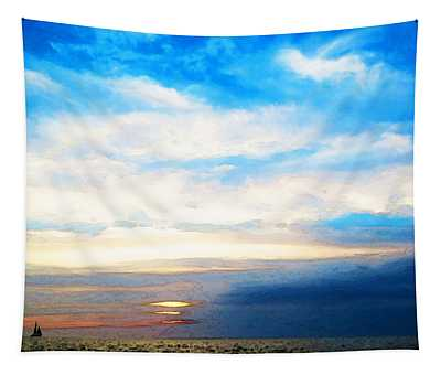 A Perfect End - Sailboat Art Painting Tapestry